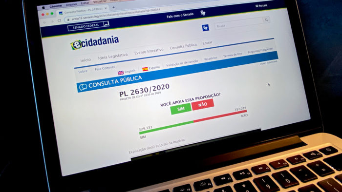 PL das fake news tem votação acirrada no e-Cidadania (Foto: Leonardo Sá/Agência Senado - 01/06/2020)