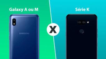 LG Série K ou Samsung Galaxy A e M; qual comprar?