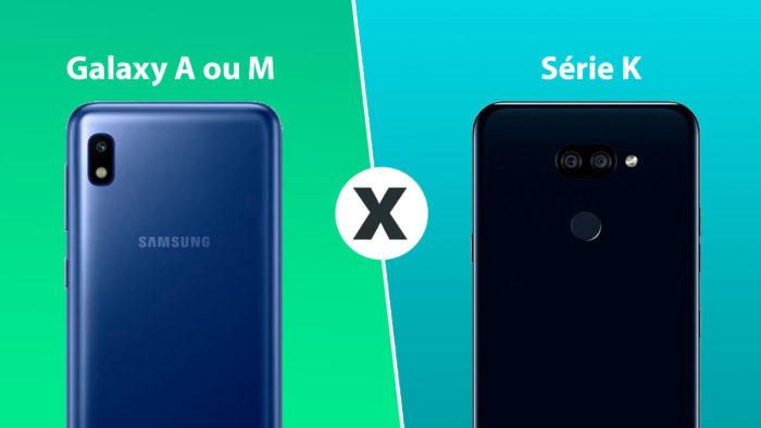 Imagem com os dois celulares da Samsung e da LG