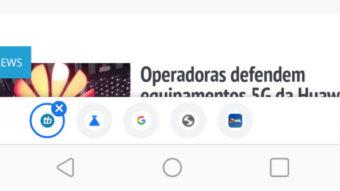 Google Chrome testa barra para alternar entre abas no Android