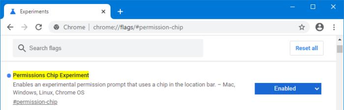 Google Chrome Canary e localização