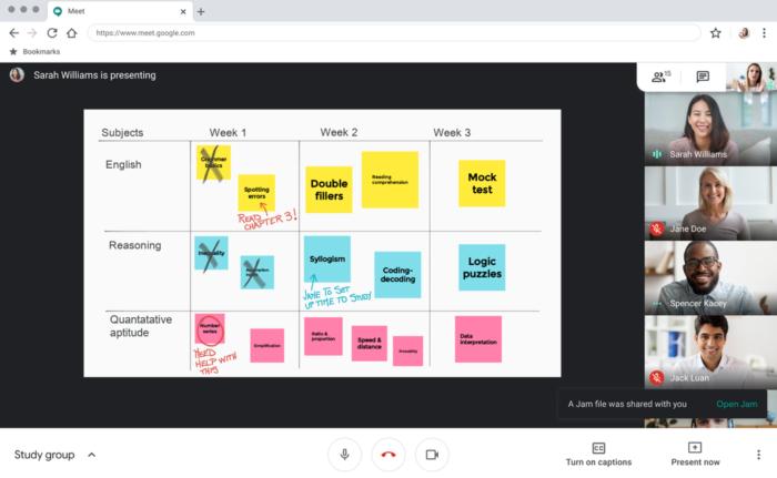 Google Meet terá quadro interativo para aulas à distância (Foto: Divulgação/Google)