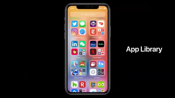 iOS 14 App Library