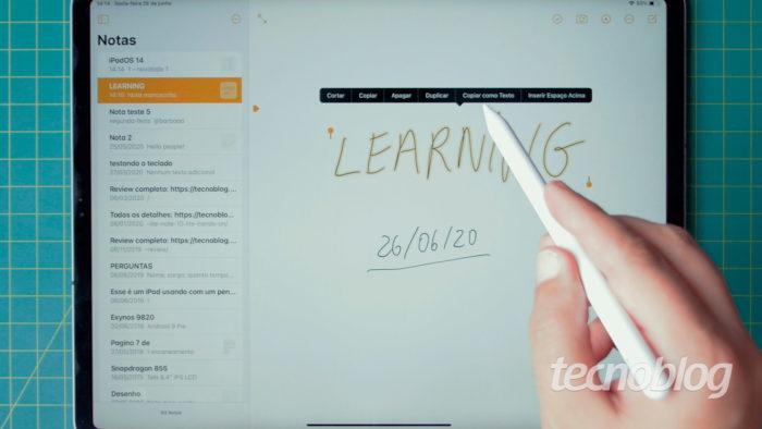 iPad com iPadOS 14 (Imagem: Tecnoblog)