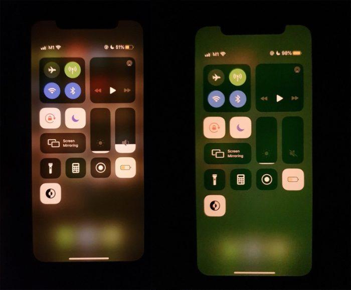 Falha deixa tela do iPhone 11 esverdeada após desbloqueio (Foto: Reprodução/MacRumors)