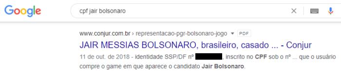 CPF Jair Bolsonaro