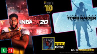 PS Plus de julho tem Tomb Raider e NBA 2K nos jogos grátis [2020]