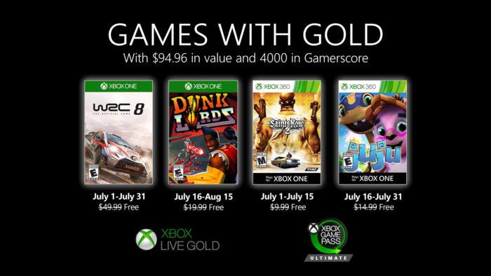 jogos do xbox live gold em julho de 2020