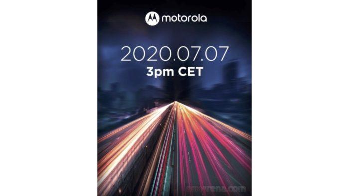 Convite de lançamento do Motorola Edge Lite (Foto: Reprodução/GSMArena)