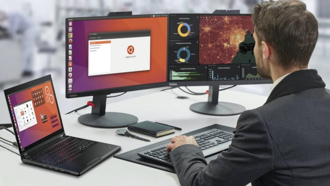 Computador com Ubuntu Linux (imagem: divulgação/Lenovo)