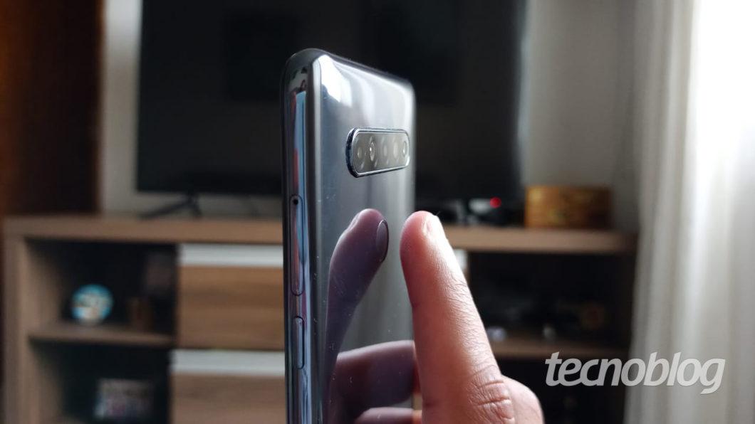 Leitor de impressões digitais do LG K51S