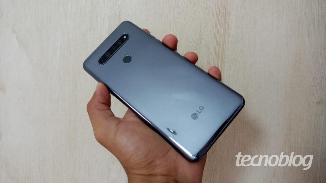 Parte traseira do LG K51S