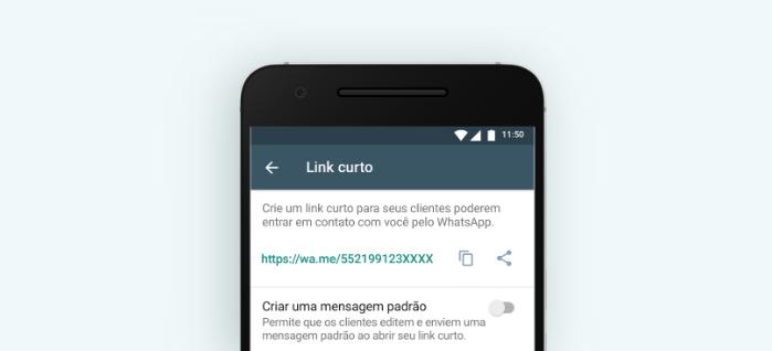 WhatsApp Business: link curto/Reprodução/Gabrielle Lancellotti