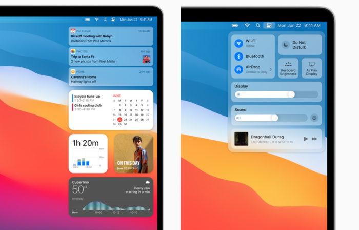 macOS (11.0) Big Sur fica mais próximo do iOS (Imagem: Divulgação/Apple)