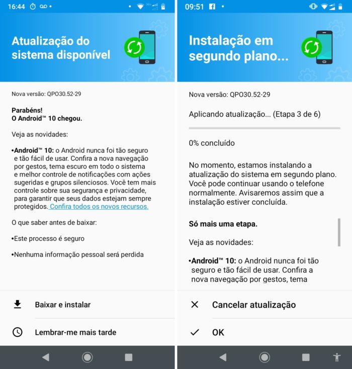 Android 10 para Moto G7 Power