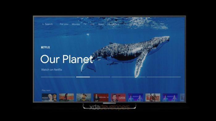 novo chromecast ultra google sabrina android tv interface