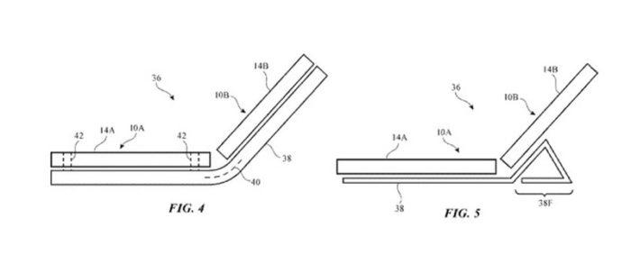 Patente de iPhone dobrável registrada pela Apple em março de 2020 (Foto: Reprodução/MacRumors)