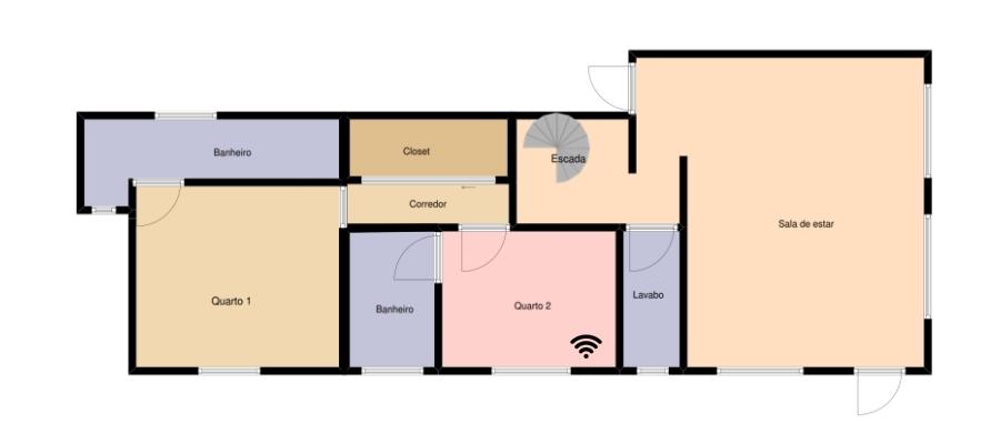 House plan stating equipment location
