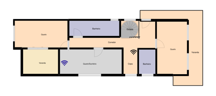 House plan with equipment location
