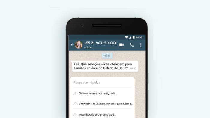 WhatsApp Business: respostas rápidas/Reprodução/Gabrielle Lancellotti