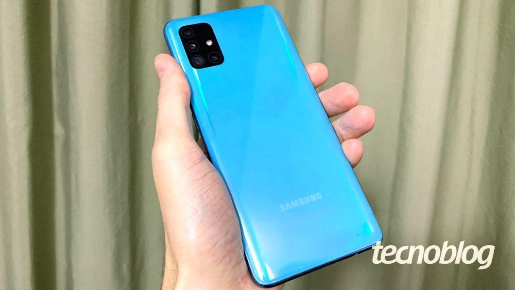 Samsung Galaxy A51 - traseira