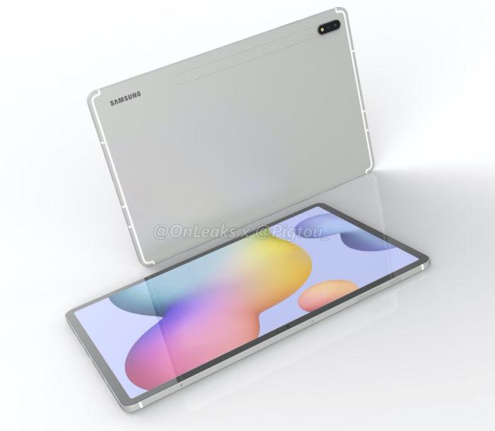 Samsung Galaxy Tab S7+ (Foto: Reprodução/OnLeaks/Pigtou)