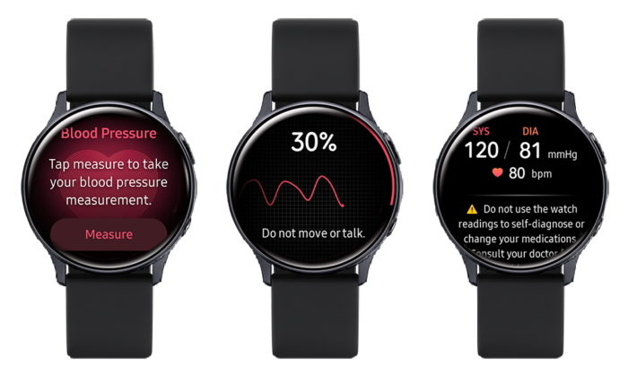 Medidor de pressão do Samsung Galaxy Watch (Foto: Divulgação/Samsung)