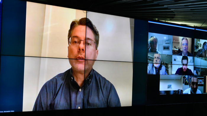 Senador Alessandro Vieira, autor do PL das fake news (Foto: Leopoldo Silva/Agência Senado - 15/04/2020)
