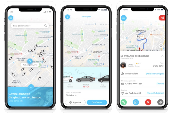 Aplicativo para iPhone (iOS) da Sity