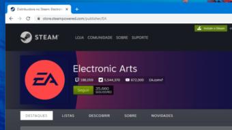 EA adiciona jogos de PC ao Steam com desconto de até 75%