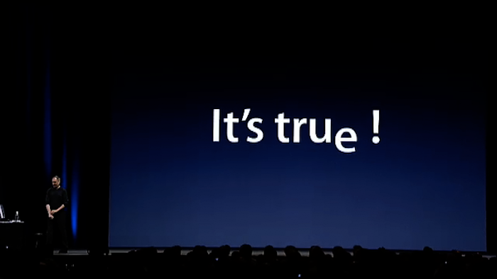 Steve Jobs - It's true!