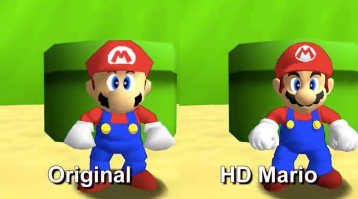 Super Mario 64 para PC recebe mod com versão HD de Mario (Foto: Reprodução/YouTube)