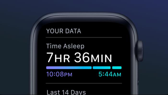 tempo de sono watchos 7