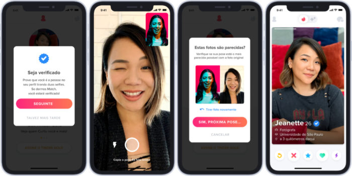 tinder verificacao autenticacao selfie