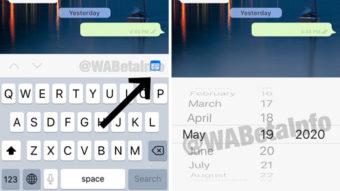WhatsApp testa busca de mensagens por data