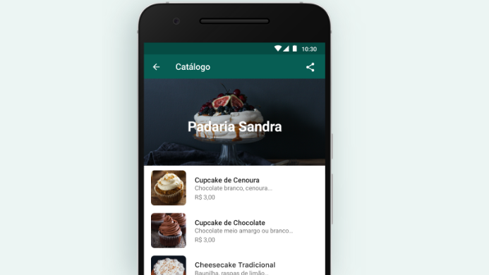 catálogo loja WhatsApp/Reprodução/Gabrielle Lancellotti
