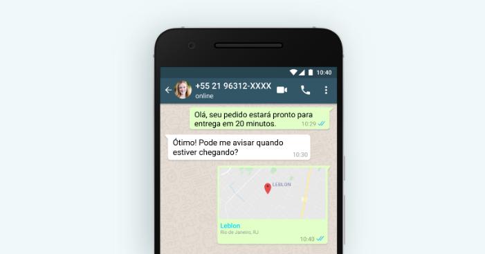 WhatsApp para empresas: localização em tempo real/Reprodução