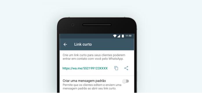 WhatsApp para empresas: link curto/Reprodução