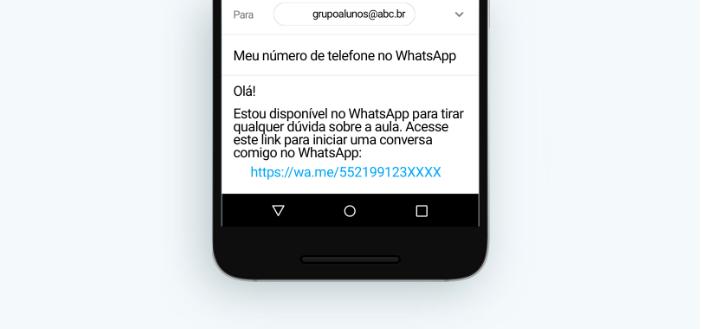 WhatsApp para professores: link universal/Reprodução/Gabrielle Lancellotti