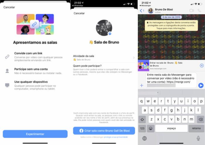 Integração do Facebook Messenger Rooms e WhatsApp (Foto: Reprodução/Bruno Gall De Blasi/Tecnoblog)