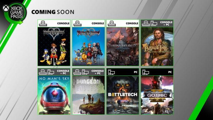 Xbox Game Pass em junho de 2020