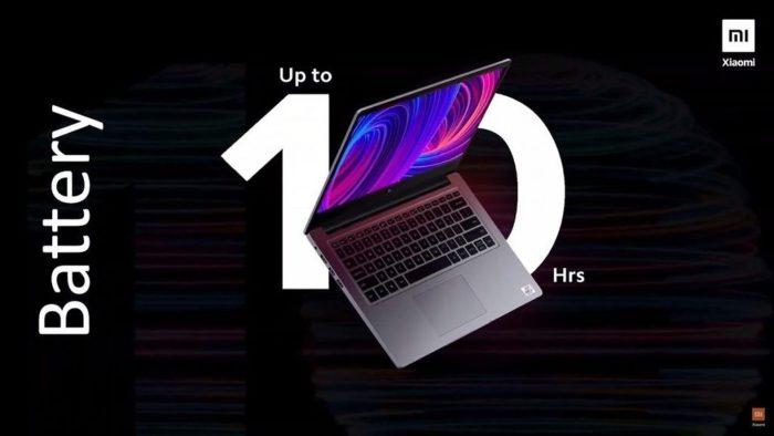 Xiaomi Mi Notebook 14 - bateria com até 10 horas de duração