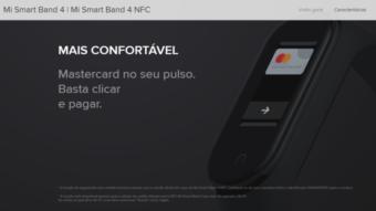Xiaomi Mi Band 4 terá suporte a NFC na Europa