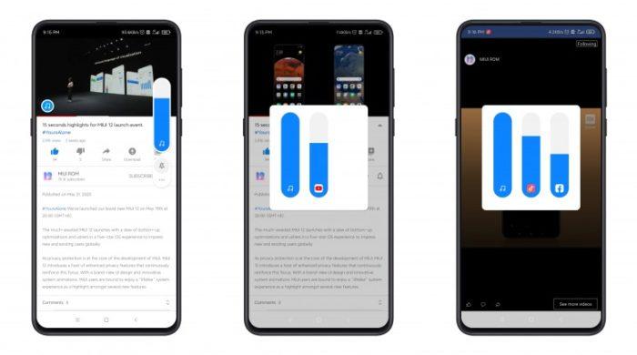 Xiaomi MIUI 12 terá ajustes independentes para apps (Foto: Reprodução/Mi Community)