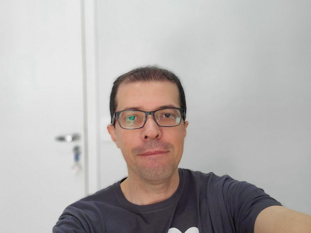 Selfie registrada com o Samsung Galaxy Z Flip