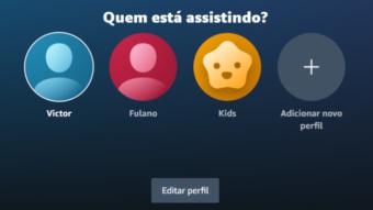 Amazon Prime Video permite criar perfis separados no Brasil
