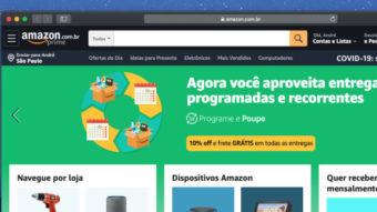 Amazon lança compras recorrentes com desconto no Brasil