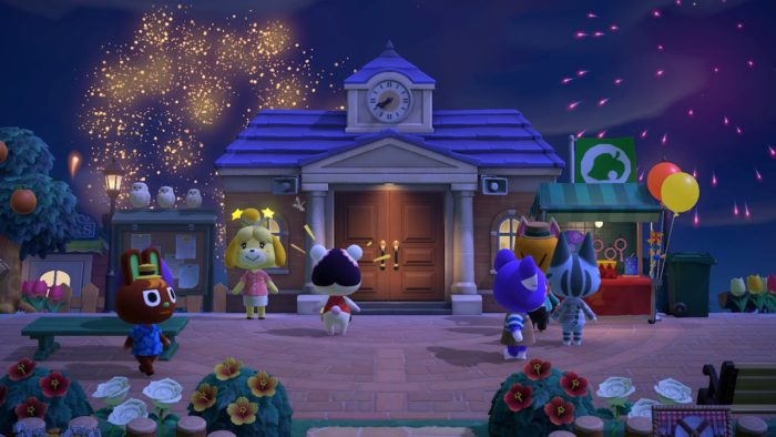 fogos de artifício chegam com update de animal crossing new horizons