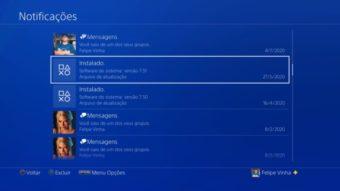 Como fazer uma atualização manual no PS4