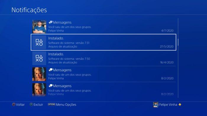 Como fazer uma atualização manual no PS4 / Felipe Vinha / Reprodução